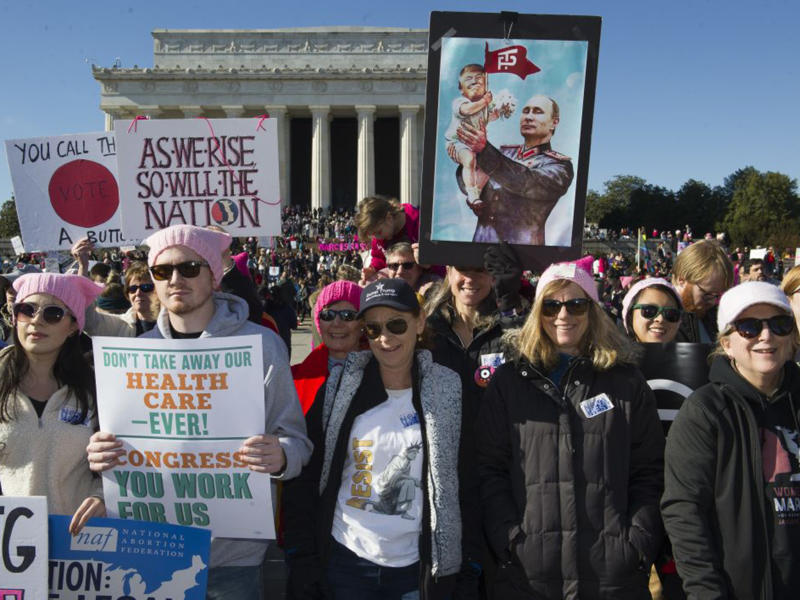 Marches were held in several major US cities and other countries: AP