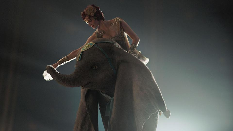 <p>Colette, who forms a close bond with Colin Farrell's Holt Farrier, rides Dumbo twice in the film. (Disney) </p>