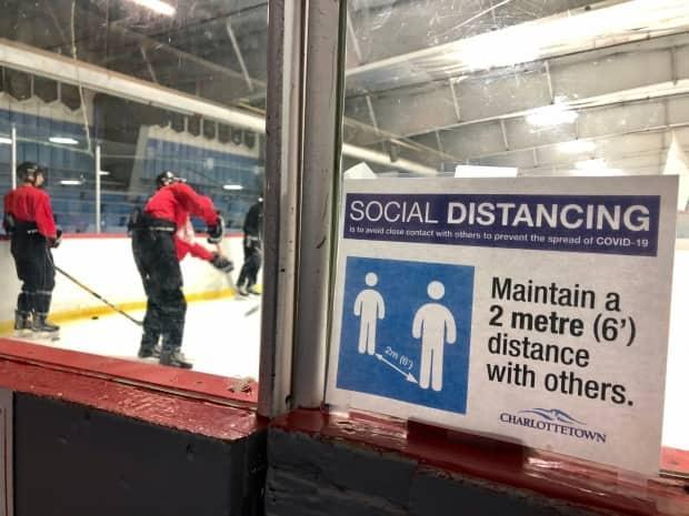 Public health regulations currently prohibit hockey games on P.E.I., but that ban is scheduled to end after this weekend. (Steve Bruce/CBC - image credit)