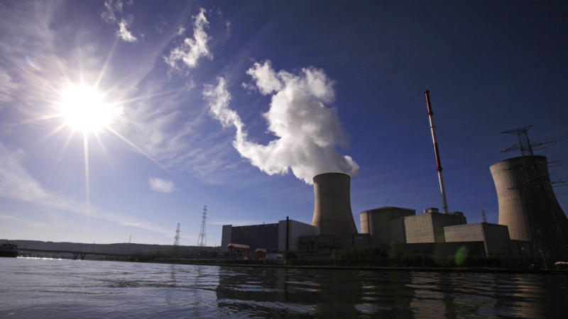 A Belgian nuclear reactor has been shut down after a fire broke out at the power plant near Liege.