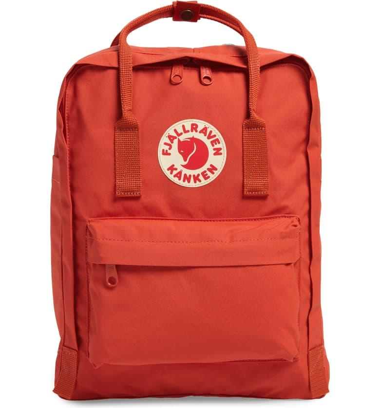 Fjällräven Kånken Water Resistant Backpack in rowan red