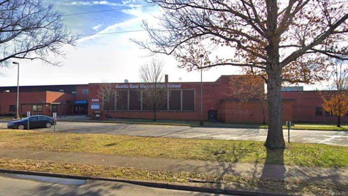 Austin-East Magnet High School in Knoxville, TN via Google Maps Street View