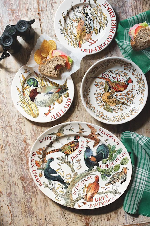 """<p>The autumn countryside is at the heart of the new range; expect Game Birds such as pheasants, ducks and partridges printed on plates, teapots, mugs, jugs and platters. We're certain this will make the perfect Christmas gift...</p><p><a class=""""body-btn-link"""" href=""""https://go.redirectingat.com?id=127X1599956&url=https%3A%2F%2Fwww.emmabridgewater.co.uk%2Fproducts%2Fgame-birds-pheasant-medium-pasta-bowl-1&sref=https%3A%2F%2Fwww.countryliving.com%2Fuk%2Fhomes-interiors%2Finteriors%2Fnews%2Fg130%2Femma-bridgewater-autumn-range%2F"""" target=""""_blank"""">BUY NOW, £22.95</a></p>"""