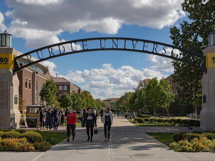 "General view of the campus of Purdue University in October 2018 in West Lafayette, Indiana. <p class=""copyright"">Michael Hickey/Getty Images</p>"