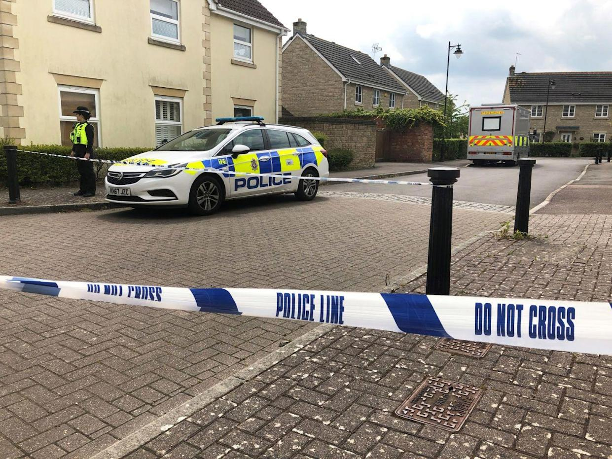 The scene after Ellie Gould's body was discovered at her Wiltshire home (PA)
