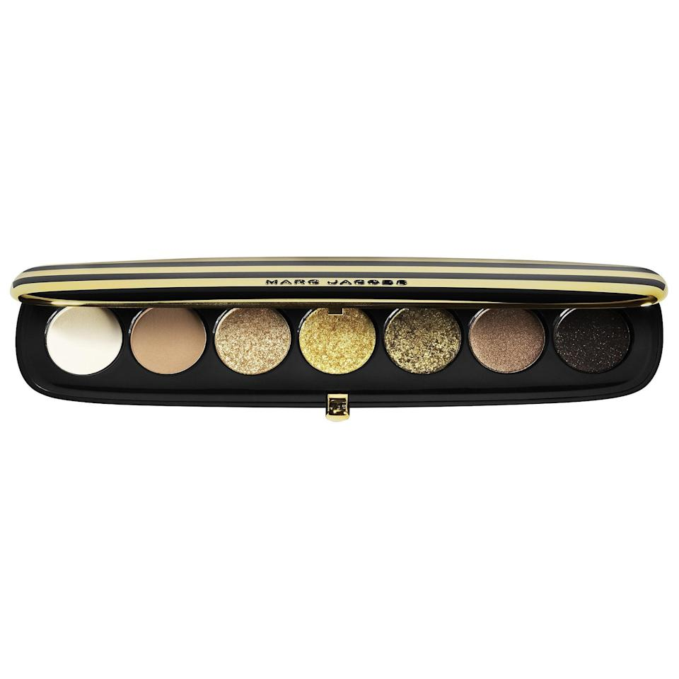 """<p>Each of the <a href=""""https://www.popsugar.com/buy/Marc-Jacobs-Beauty-Eye-Conic-Multi-Finish-Eyeshadow-Palettes-582570?p_name=Marc%20Jacobs%20Beauty%20Eye-Conic%20Multi-Finish%20Eyeshadow%20Palettes&retailer=sephora.com&pid=582570&price=50&evar1=bella%3Aus&evar9=47554137&evar98=https%3A%2F%2Fwww.popsugar.com%2Fbeauty%2Fphoto-gallery%2F47554137%2Fimage%2F47554145%2FMarc-Jacobs-Beauty-Eye-Conic-Multi-Finish-Eyeshadow-Palette&list1=eyeshadow%2Csephora%2Ceye%20makeup&prop13=mobile&pdata=1"""" class=""""link rapid-noclick-resp"""" rel=""""nofollow noopener"""" target=""""_blank"""" data-ylk=""""slk:Marc Jacobs Beauty Eye-Conic Multi-Finish Eyeshadow Palettes"""">Marc Jacobs Beauty Eye-Conic Multi-Finish Eyeshadow Palettes</a> ($50) tell a unique color story from cobalt and teal to scarlet and rust, but this new, limited-edition gold option really dazzles. (They've all also earned an average 4.7-star rating from other shoppers.)</p>"""