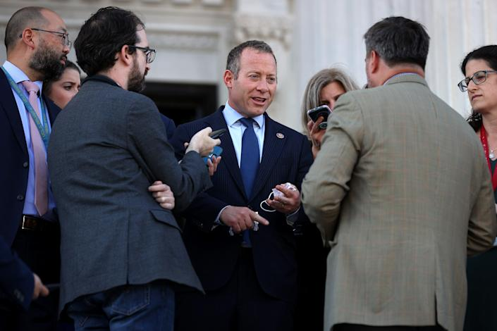 Problem Solvers Caucus Co-Chair Josh Gottheimer, D-N.J., leads a group of moderate Democrats in the House pushing for passage of a bipartisan infrastructure bill.