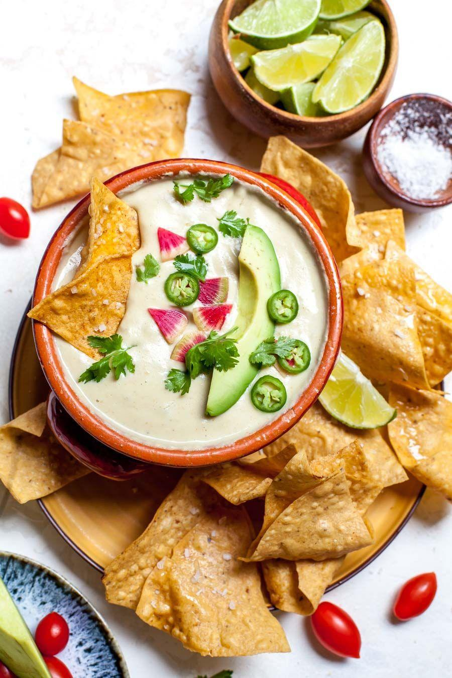 """<p>Fear not if you're on a dairy-free diet. This vegan queso is here to save the day (and your tacos and chips). </p><p><strong><em>Get the recipe at <a href=""""https://dishingouthealth.com/vegan-queso-dip-with-green-chiles/"""" rel=""""nofollow noopener"""" target=""""_blank"""" data-ylk=""""slk:Dishing Out Health."""" class=""""link rapid-noclick-resp"""">Dishing Out Health.</a></em></strong></p>"""