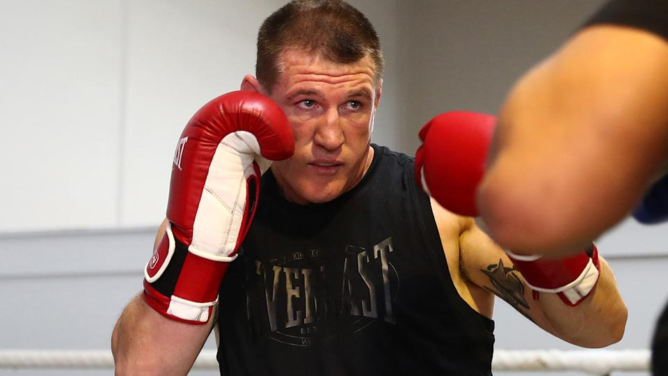 Paul Gallen's burgeoning boxing career has attracted a variety of high-profile opponents since his retirement from the NRL. (Photo by Chris Hyde/Getty Images)