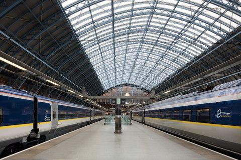 Eurostar departs from St Pancras, London