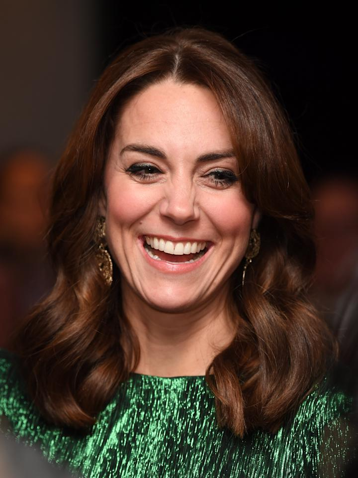 The Duchess of Cambridge at a reception hosted by the British Ambassador to Ireland at the Gravity Bar, Guinness Storehouse, Dublin, during their three day visit to the Republic of Ireland.