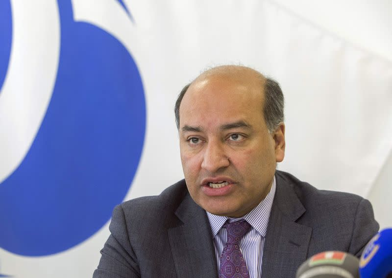President of the European Bank for Reconstruction and Development Suma Chakrabarti speaks during news conference in Minsk