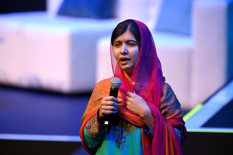 Nobel Peace Prize laureate Malala Yousafzai speaks in Mexico City on Sept. 1, 2017.