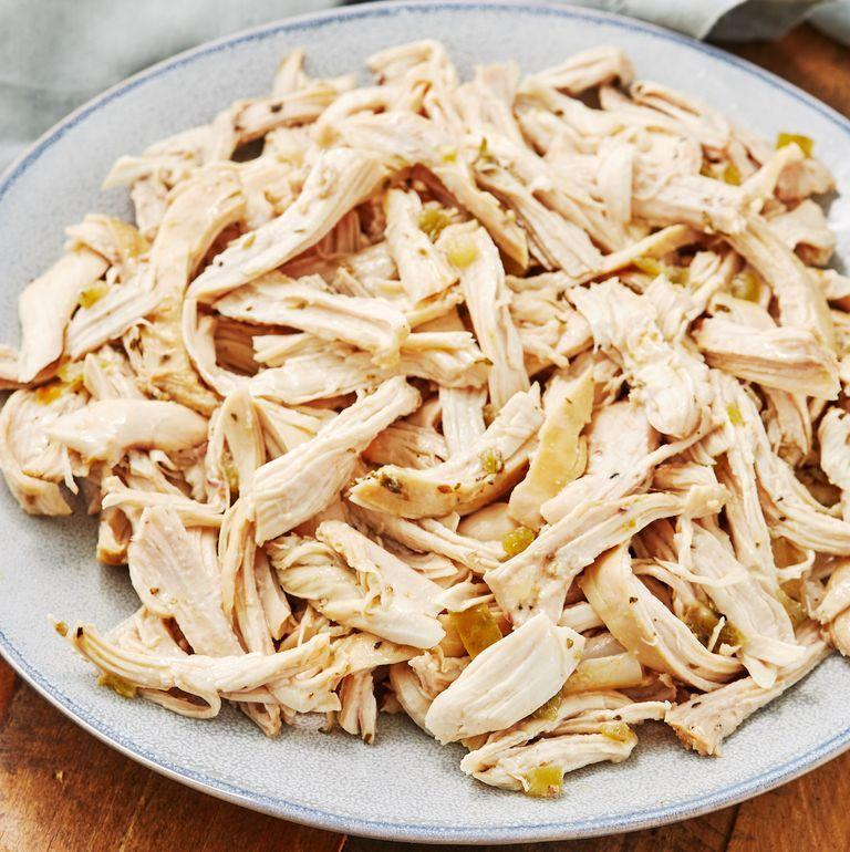 """<p>Don't sleep on this recipe. The Instant Pot makes perfectly tender and juicy chicken. The salsa verde makes it extremely flavourful and could be subbed out for regular salsa as well. Eat it on its own or use in <a href=""""https://www.delish.com/uk/cooking/recipes/a30451472/cheesy-chicken-enchiladas-recipe/"""" rel=""""nofollow noopener"""" target=""""_blank"""" data-ylk=""""slk:chicken enchiladas"""" class=""""link rapid-noclick-resp"""">chicken enchiladas</a> or <a href=""""https://www.delish.com/uk/cooking/recipes/a30805376/chicken-taquitos-recipe/"""" rel=""""nofollow noopener"""" target=""""_blank"""" data-ylk=""""slk:taquitos"""" class=""""link rapid-noclick-resp"""">taquitos</a>! </p><p>Get the <a href=""""https://www.delish.com/uk/cooking/recipes/a31182718/instant-pot-shredded-chicken-recipe/"""" rel=""""nofollow noopener"""" target=""""_blank"""" data-ylk=""""slk:Instant Pot Shredded Chicken"""" class=""""link rapid-noclick-resp"""">Instant Pot Shredded Chicken</a> recipe.</p>"""