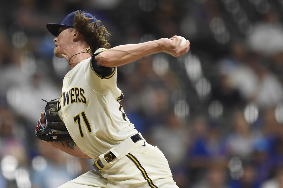 Josh Hader is one reason the Brewers are in first place. (Photo by Patrick McDermott/Getty Images)