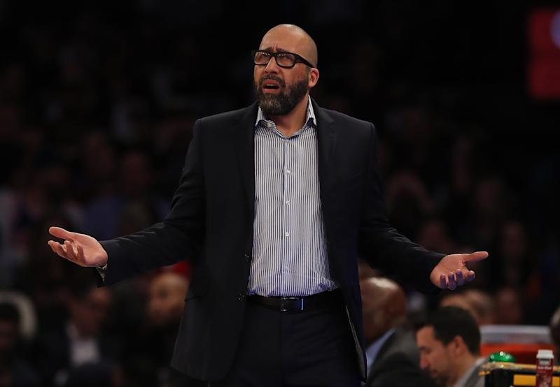 The Knicks fired coach David Fizdale, presumably because they thought they should be better. (Elsa/Getty Images)
