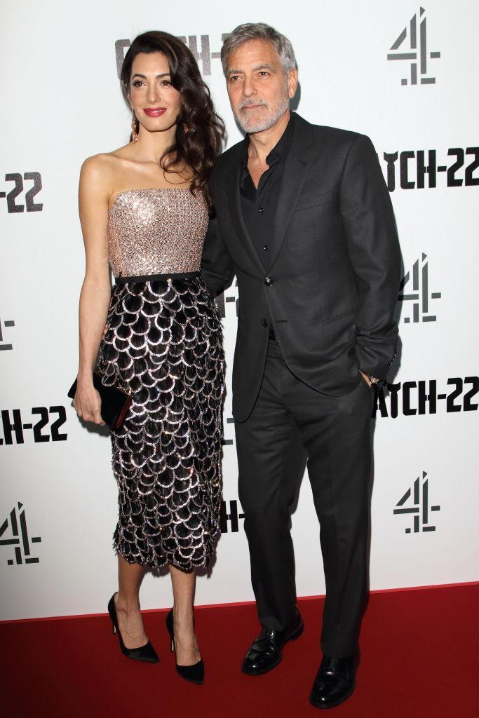 The Clooneys were last seen on the red carpet at the Catch 22 premiere in May 2019. (Getty Images)