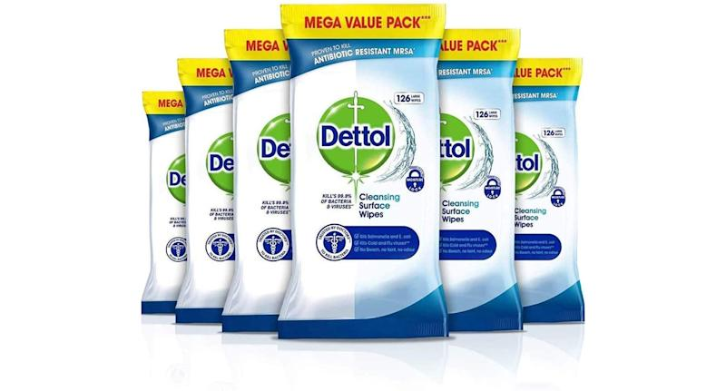 Dettol antibacterial wipes - multipack of 6 x 126