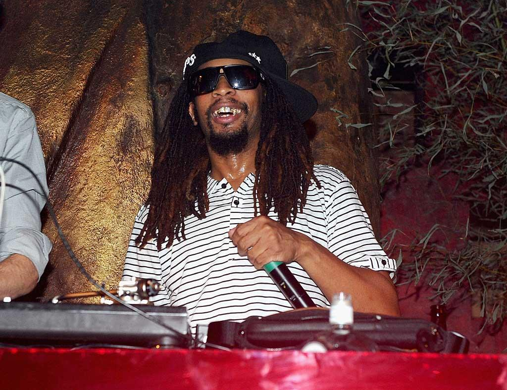 "Rapper Lil Jon put on his DJ hat to spin some tunes at the fancy shindig, and also sang ""Happy Birthday"" to the guest of honor. Jamie McCarthy/<a href=""http://www.wireimage.com"" target=""new"">WireImage.com</a> - October 16, 2010"