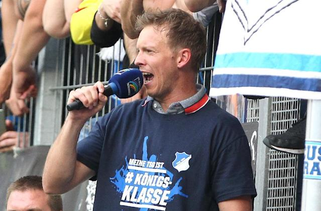 On my way: Julian Nagelsmann will leave Hoffenheim for Leipzig (AFP Photo/Amelie QUERFURTH)