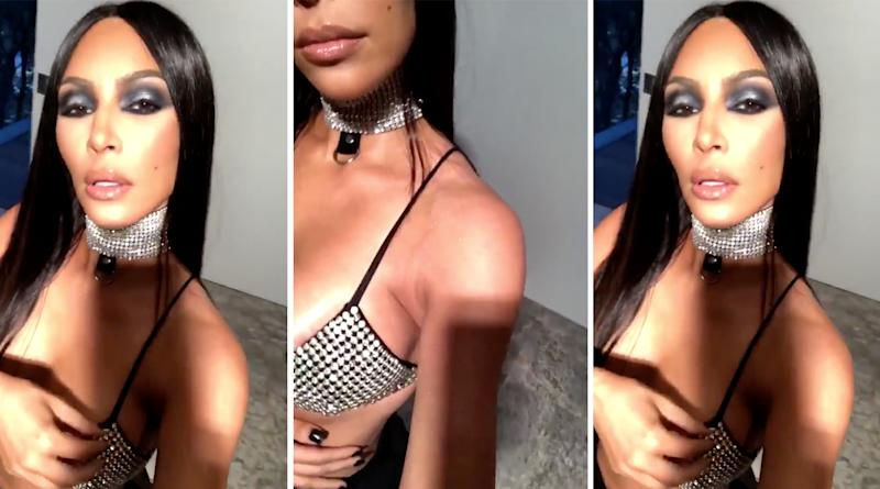 sc 1 st  Yahoo Style UK & Kim Kardashian called racist for Aaliyah Halloween costume
