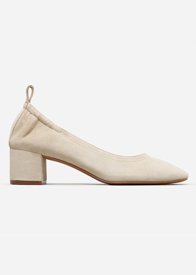 """Everlane The Day Heel, $145; at <a rel=""""nofollow"""" href=""""https://www.everlane.com/day-heel"""" rel="""""""">Everlane</a>"""