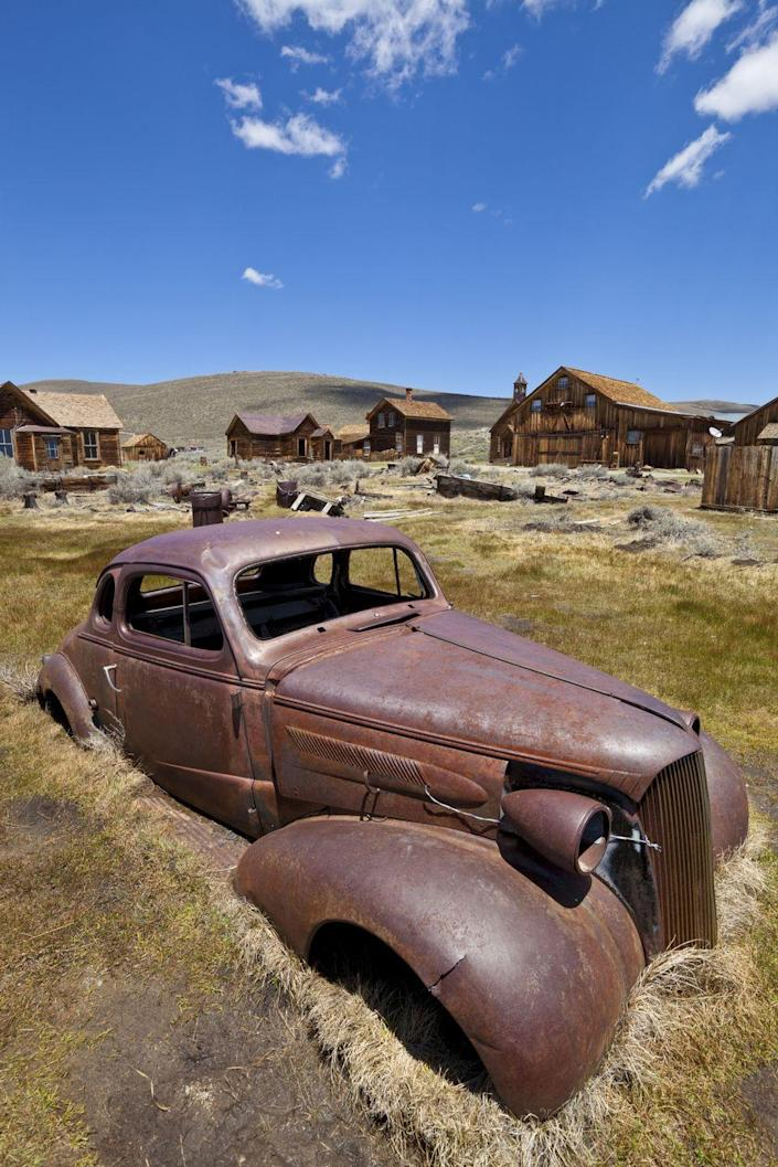 <p>Often said to be the best ghost town in the West, the former mining town in the Sierra Nevadas feels frozen in time. Visitors can stroll the deserted streets, peek in the windows of the church, schoolhouse, barbershop, and saloon, and scope out the several old relics that still remain intact today.</p>