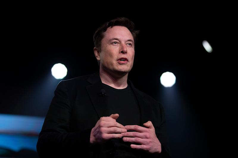 Elon Musk speaks at a Tesla event in March 2019.
