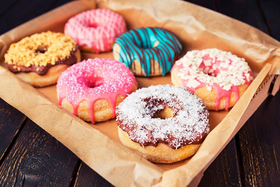 """<p>You've probably experienced not feeling great after eating fried or greasy foods like doughnuts, french fries, onion rings, or pizza. Fried or oily foods are <a href=""""https://www.manhattangastroenterology.com/10-worst-foods-digestive-health/"""" class=""""link rapid-noclick-resp"""" rel=""""nofollow noopener"""" target=""""_blank"""" data-ylk=""""slk:hard for your body to digest"""">hard for your body to digest</a>, and can cause diarrhea, bloating, gas, and stomach upset. You may even have these symptoms when eating foods like baked goods that are made with oil. (You can <a href=""""https://www.popsugar.com/fitness/How-Replace-Butter-When-Baking-21875486"""" class=""""link rapid-noclick-resp"""" rel=""""nofollow noopener"""" target=""""_blank"""" data-ylk=""""slk:substitute applesauce"""">substitute applesauce</a> for oil in recipes.)</p>"""