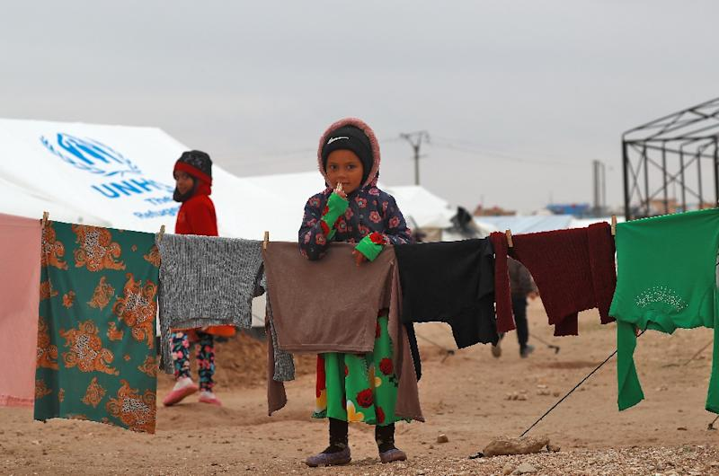 Syrian children at the Internally Displaced Persons (IDP) camp of al-Hol in eastern Syria. The UN says at least 29 children have died on the journey to the camp or after arriving there