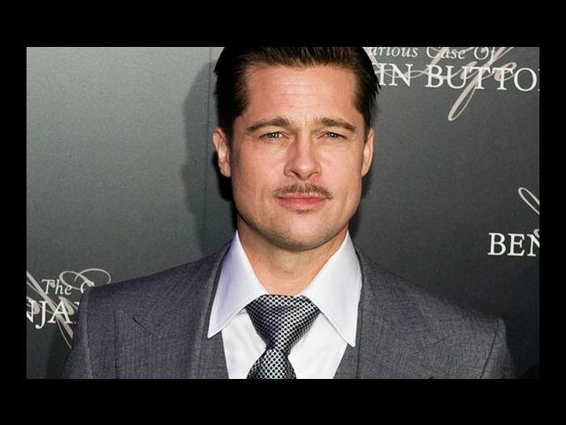 <b>7) Brad Pitt</b><br> We have never seen a pencil moustache look any sexier. But, after all, we are going to love everything that this man will ever do.