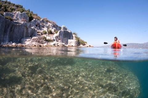 Kayaking at Kekova