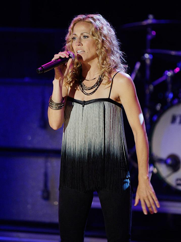 """Sheryl Crow performed """"Run, Baby, Run"""" -- the same song she sang when she first appeared on """"Late Night With Conan O'Brien"""" in 1993. Paul Drinkwater/NBC - June 3, 2009"""
