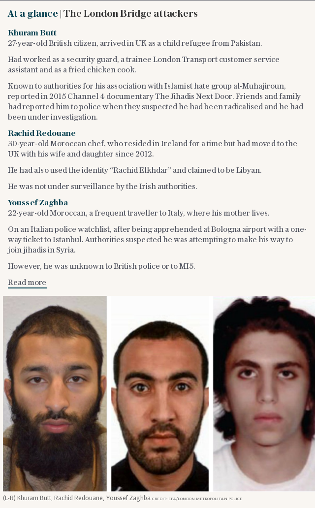 At a glance | The London Bridge attackers