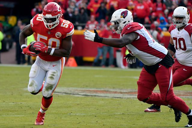 The Kansas City Chiefs released linebacker Justin Houston. (AP)