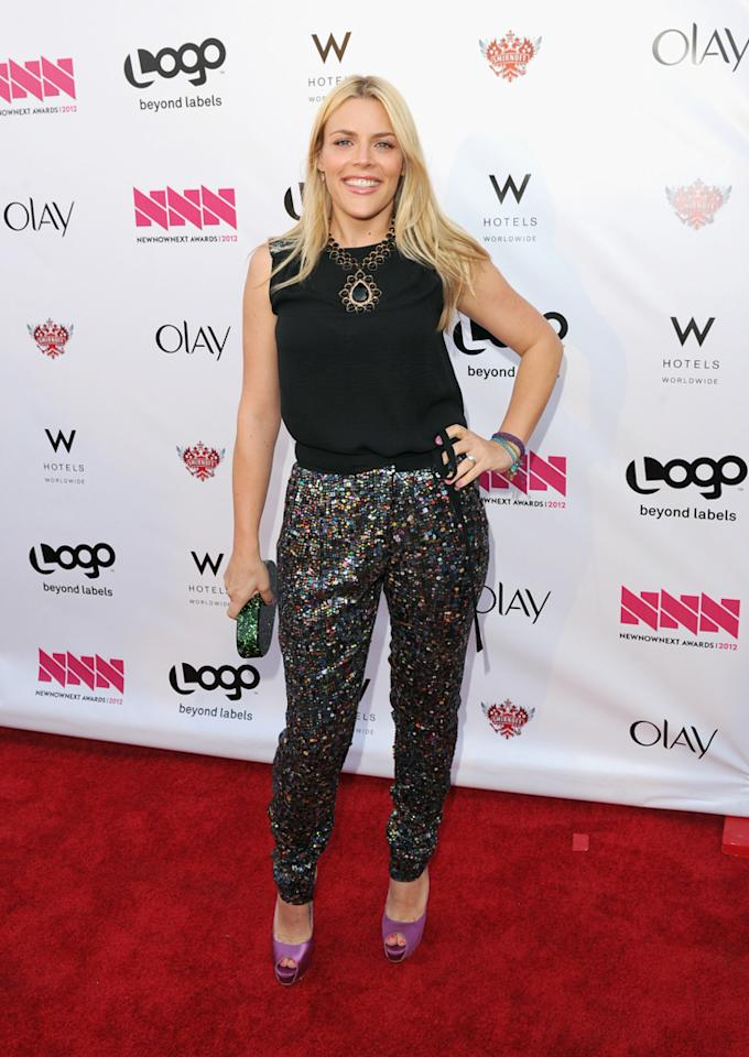 Busy Phillips arrives at LOGO's NewNowNext Awards at Avalon on April 5, 2012 in Hollywood, California.