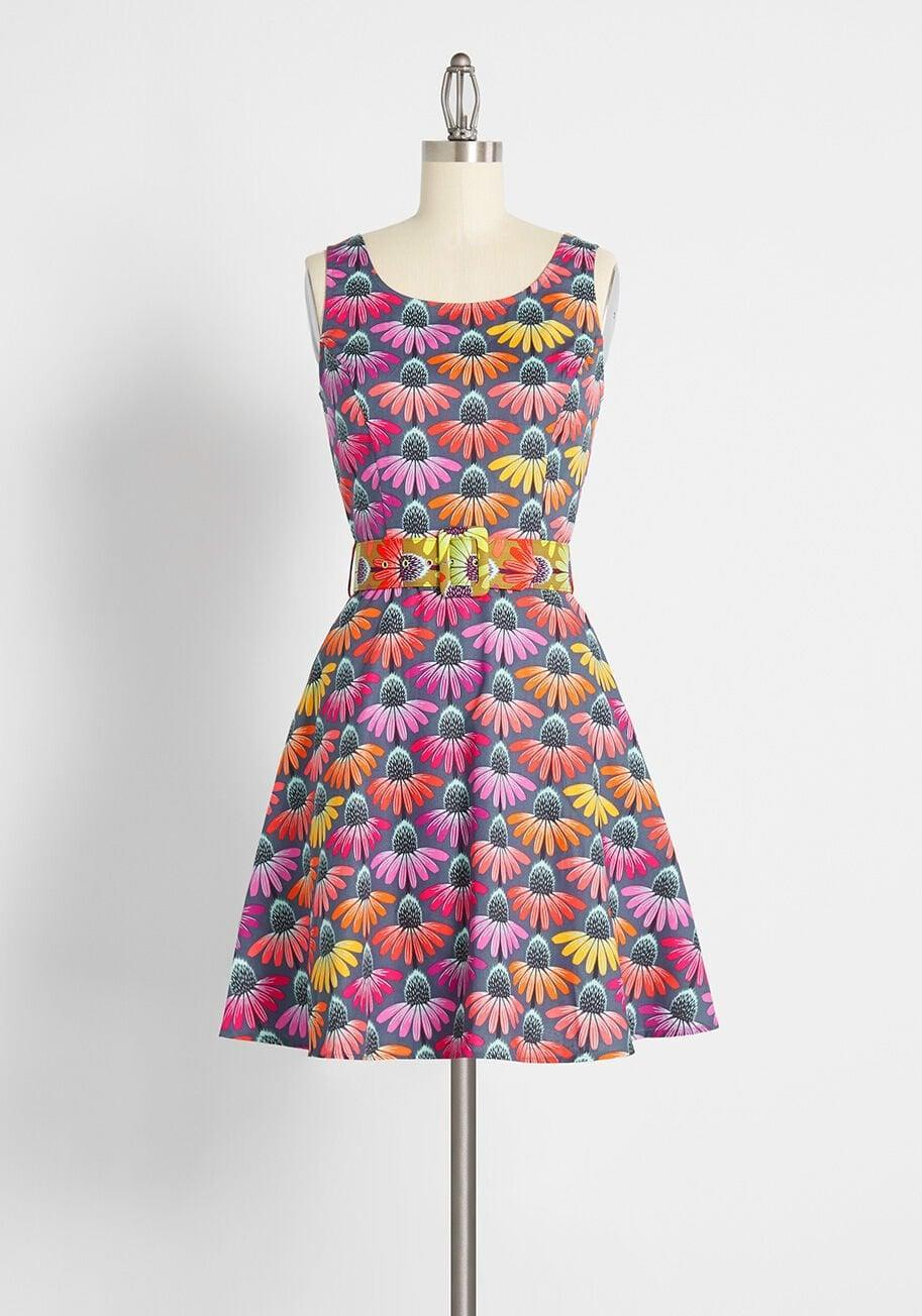 <p>The print of this <span>Echinacea Panoply Dress</span> ($99) is stunning.</p>