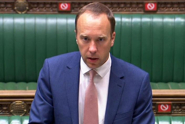 Matt Hancock delivers the news that over-25s will be able to get Covid-19 vaccinations (AFP via Getty Images)
