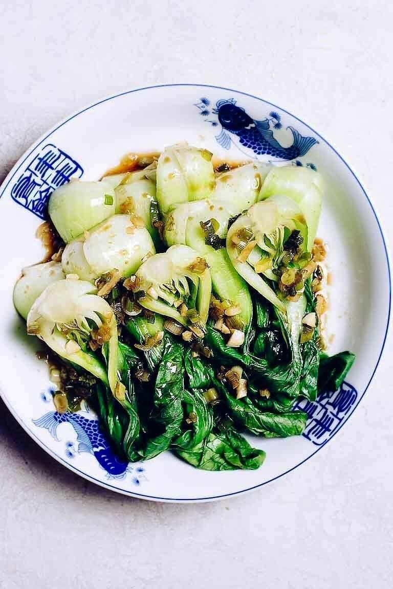 """<p>The garlic sesame sauce on this bok choy will fill your dining room with a heavenly scent.</p><p><a class=""""link rapid-noclick-resp"""" href=""""https://iheartumami.com/bok-choy-dim-sum/"""" rel=""""nofollow noopener"""" target=""""_blank"""" data-ylk=""""slk:GET THE RECIPE"""">GET THE RECIPE</a></p><p><em>Per serving: 75 calories, 6 g fat, 3 g carbs, 261 mg sodium</em></p>"""
