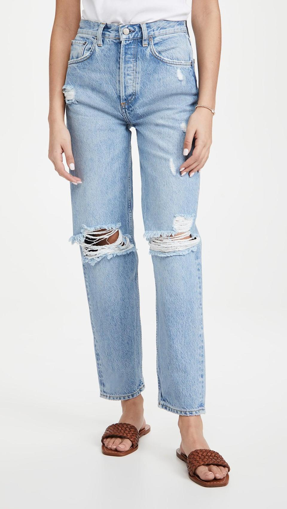<p>Did you know that jeans use up to 1,800 gallons of water to make one pair? Well, Boyish uses one-third the amount of water of regular denim, and it recycles all its water so no water is polluted in the process.</p> <p><strong>What We'd Buy</strong>: <span>Boyish Toby Relaxed Jeans</span> ($168.00)</p>