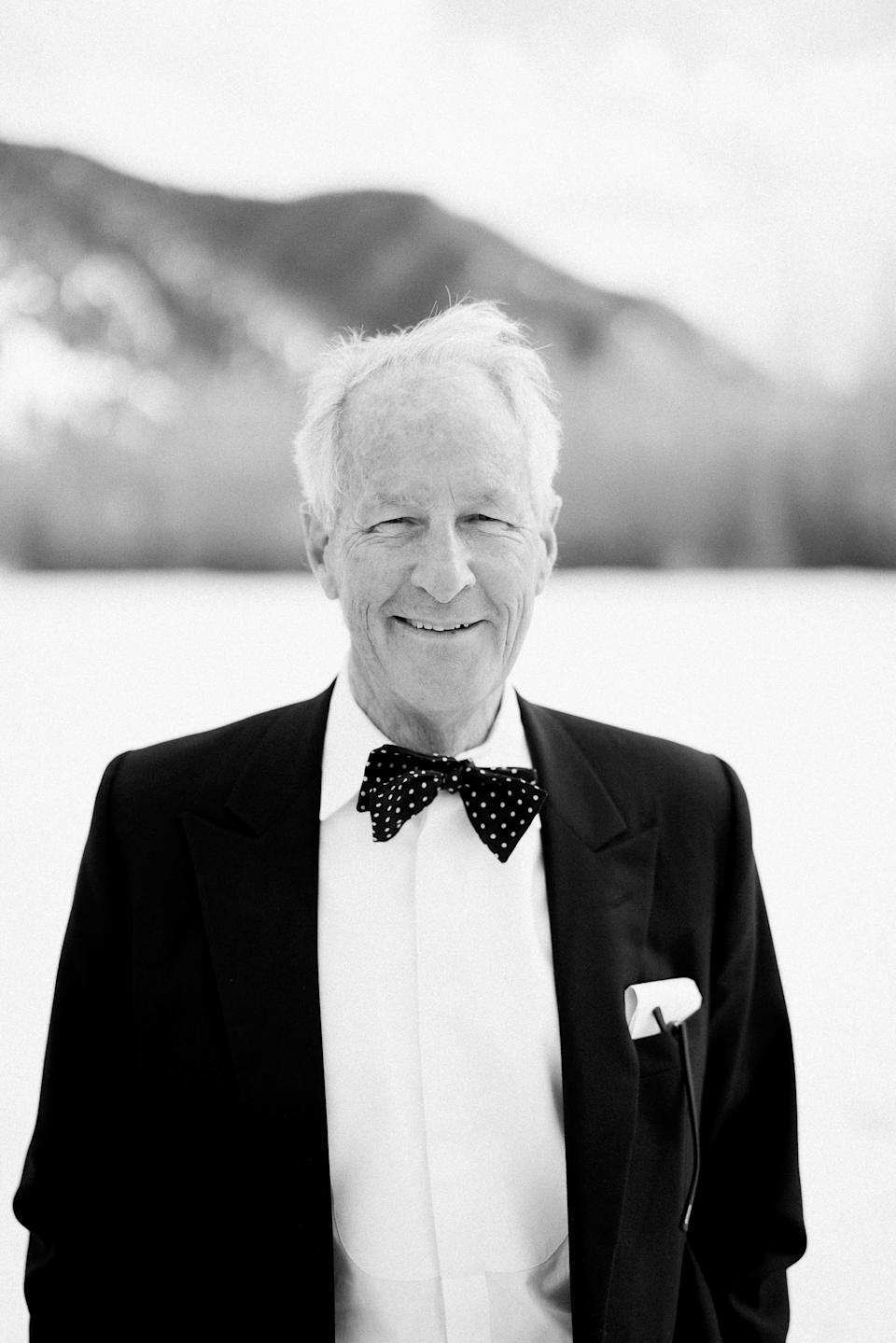 Michael Whitcomb, Peter's father. Is it odd that my favorite photo from our wedding is of my father-in-law? Such a beautiful portrait—it captures him perfectly. Michael opened our ceremony with a beautiful poem he wrote for Peter and me.