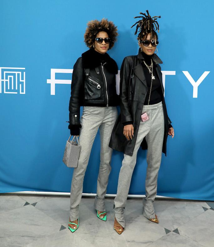 Robyn Rihanna Fenty And Linda Fargo Celebrate The Launch Of FENTY At Bergdorf Goodman