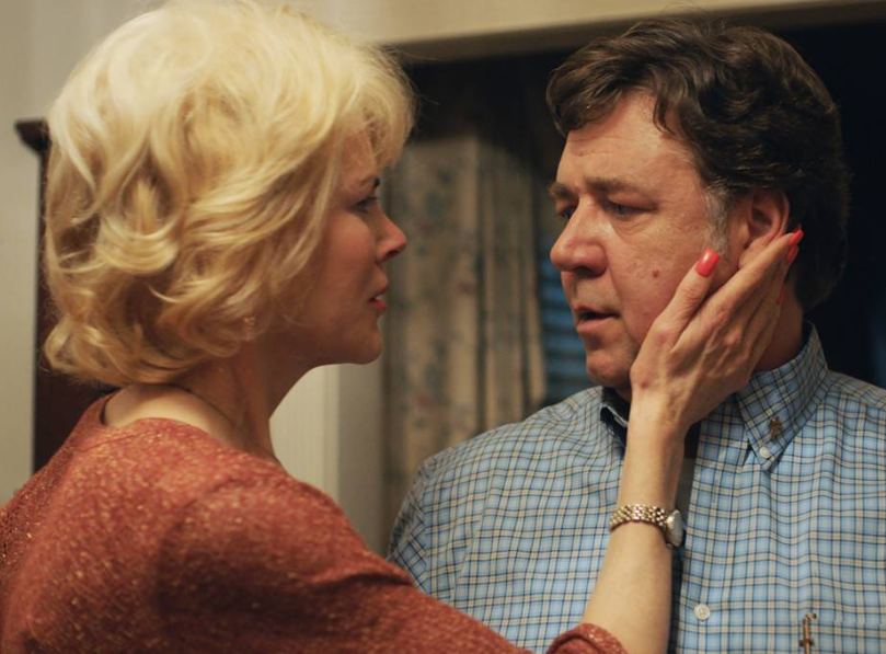 Nicole Kidman and Russell Crowe play Marshall and Nancy in Boy Erased. Source: Universal