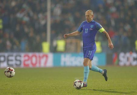 Bulgaria v Netherlands - 2018 World Cup Qualifying European Zone - Group A - Vasil Levski Stadium, Sofia, Bulgaria - 25/03/17 - Netherland's Arjen Robben in action. REUTERS/Laszlo Balogh