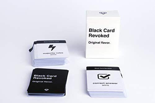 """<p><strong>Black Card Revoked</strong></p><p>amazon.com</p><p><strong>$15.97</strong></p><p><a href=""""https://www.amazon.com/dp/B014YZHW4S?tag=syn-yahoo-20&ascsubtag=%5Bartid%7C10055.g.33598763%5Bsrc%7Cyahoo-us"""" rel=""""nofollow noopener"""" target=""""_blank"""" data-ylk=""""slk:Shop Now"""" class=""""link rapid-noclick-resp"""">Shop Now</a></p><p>Your next family function can be a little more entertaining with Black Card Revoked, which is a <strong>trivia game that revolves around Black pop culture.</strong> There are also """"majority rules"""" cards where the """"right"""" answer would be an opinion choice that the majority of the group agrees on. The brand says the game is safe for family play. </p>"""