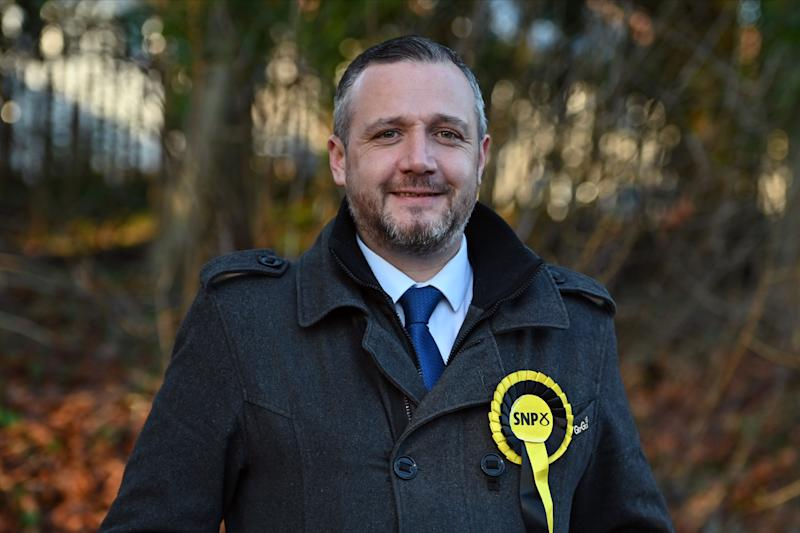 COATBRIDGE, SCOTLAND - DECEMBER 9: Steven Bonnar, SNP candidate for the Coatbridge, Bellshill, and Chryston constituency in the UK general election, on December 9, 2019 in Coatbridge, Scotland. A UK general election will be held on Thursday December 12, 2019. (Photo by Ken Jack/Getty Images)