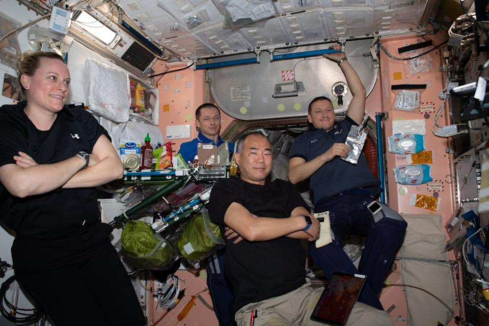 Expedition 64 crew members, including NASA astronauts Kate Rubins and Soichi Noguchi, worked together to explore medical therapies for both cancer and heart conditions. Members of the crew also swapped out U.S. spacesuits inside of SpaceX's Cargo Dragon resupply ship as one suit was returned to the station and one will go back to Earth for maintenance.