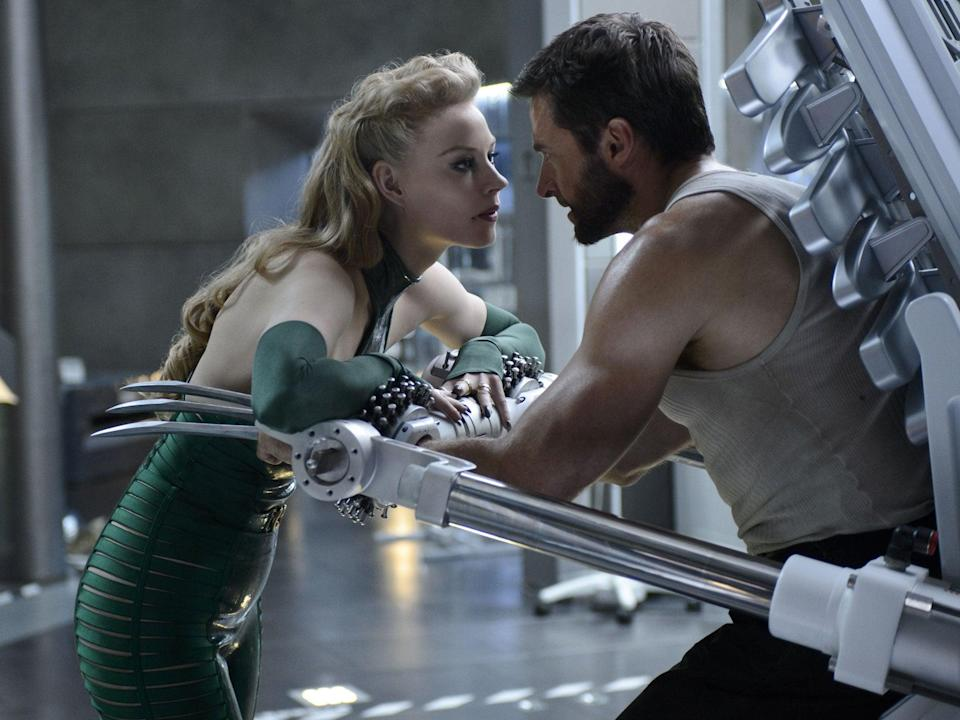 Sharp vest X-man: Hugh Jackman as Logan in 'The Wolverine', with Svetlana Khodchenkova as Viper (Ben Rothstein/marvel/20th century fox)