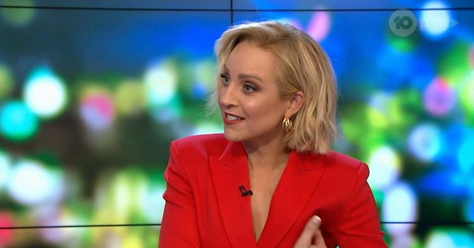 Carrie Bickmore shared a surprising side effect after receiving her Pfizer vaccine with her Project co-hosts also sharing their own odd reactions. Photo: Ten