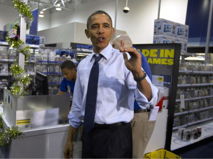 president obama stuck in washington gridlock while his family is already on vacation in hawaii did some christmas shopping on wednesday - Best Buy Christmas Hours